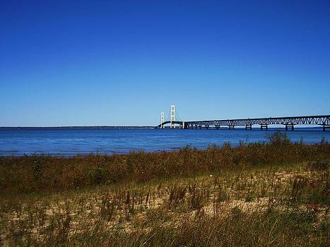 Mackinaw Bridge  by Fawn Whelahan