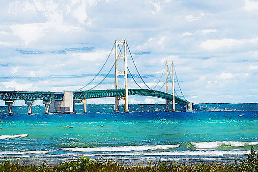 Mackinaw Bridge by Rebecca Fry