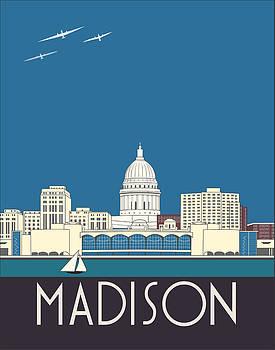 Madison Art Deco Skyline by Josef Spalenka