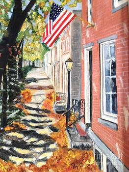 Madison Indiana street by Phyllis Norris