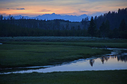 Madison River Sunset in Yellowstone National Park by Bruce Gourley