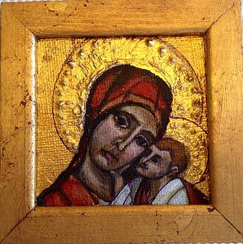 Madonna and Child Icon by Barbara  Rhodes