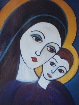 Madonna and child by Michael C Doyle