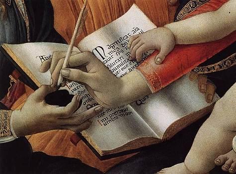 Madonna Del Magnificat Detail by Sandro Botticelli