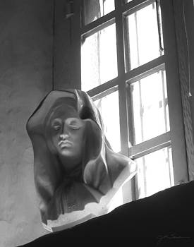 Julie Magers Soulen - Madonna in Window BW