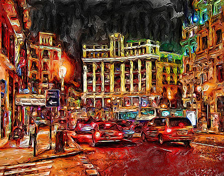 Madrid City by Cary Shapiro