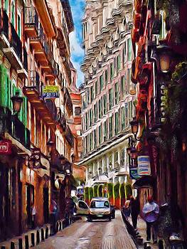 Madrid Narrow Street by Cary Shapiro