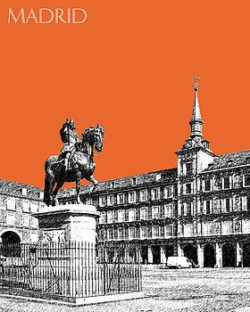 DB Artist - Madrid Skyline Plaza Mayor - Coral