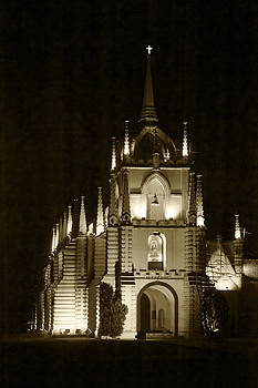 Kantilal Patel - Mae de Dues Church Goa v sepia