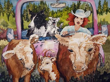 Mae on a Trail Drive by Barbara Torke