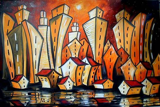 Magic city - on the Red Planet...  by Elizabeth Kawala