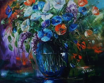 Magic in blue by Elizabeth Kawala