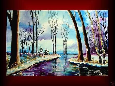 Magic of purple winter by Elizabeth Kawala