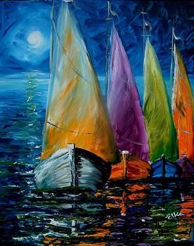 Magic of sailing by Elizabeth Kawala