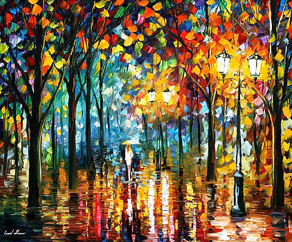 Magic Park - PALETTE KNIFE Oil Painting On Canvas By Leonid Afremov by Leonid Afremov