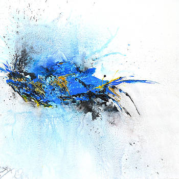 Magical Blue 1- abstract art by Ismeta Gruenwald