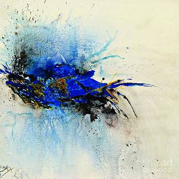Magical Blue-abstract Art by Ismeta Gruenwald