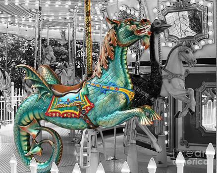 Magical Carousel Seahorse by Sabrina L Ryan