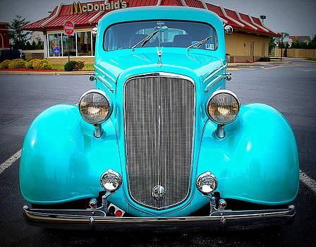 Magical Turquoise Car by M Hess