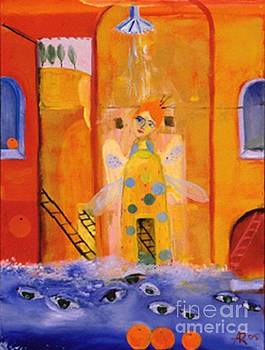 Magician in the shower by Alexandra Rozenman