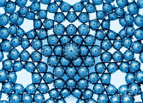 Magnetic Snowflake Blue by Mark Teeter