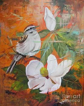 Magnolia and Bird  by Barbara Haviland
