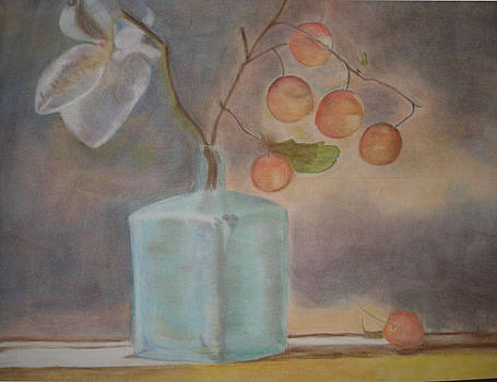 Magnolia and Sweet Cherries by RE   Ruth Thomas