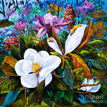 Magnolia Blooms by Dianne Parks