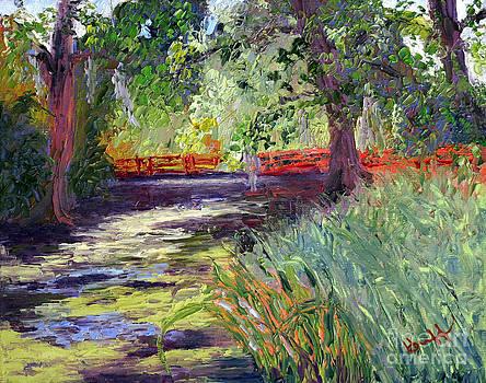 Magnolia's Red Bridge 2 by Patricia Huff