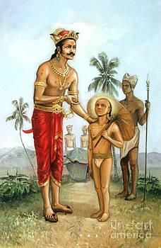 Mahabali And Vamana by Anup Roy