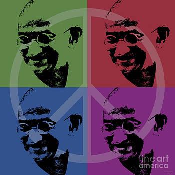 Mahatma Gandhi  by Jean luc Comperat
