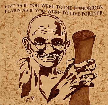 Mahatma Gandhi Quote  by Georgeta Blanaru