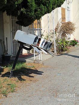 Mailboxes in Disrepair by Scott Shaw