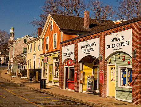 Main Street in Rockport MA by Nancy De Flon