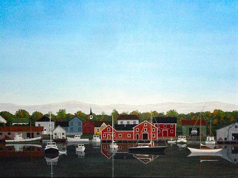 Maine Harbor by Dale Lewis