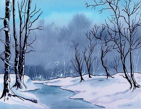 Maine Snowy Woods by Brenda Owen