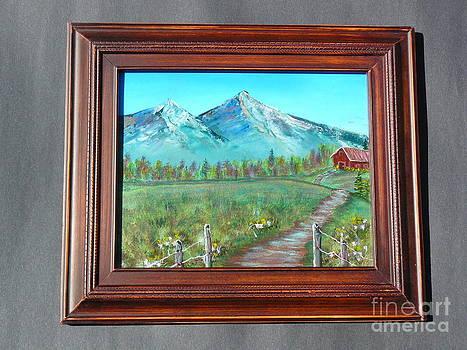 Majestic mountain-Original by Jody Curran