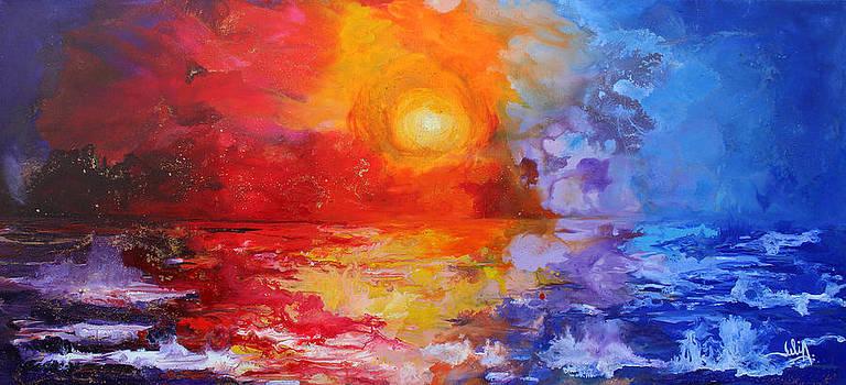 Majestic sunset by Julia Apostolova