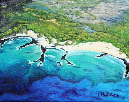 Makalawena Beach by Kristine Mueller Griffith
