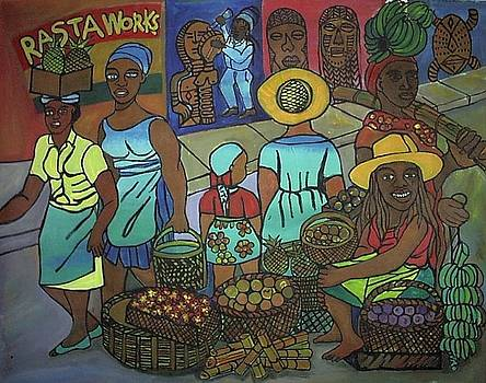Maket N Rasta At Work by Kalikata MBula