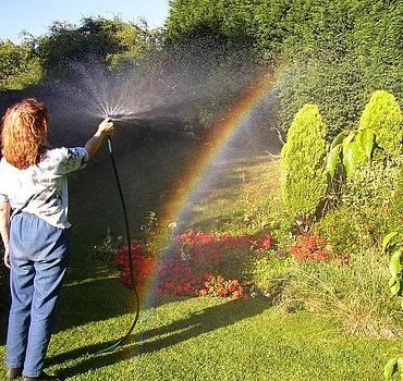 Making rainbows. by Geoff Cooper