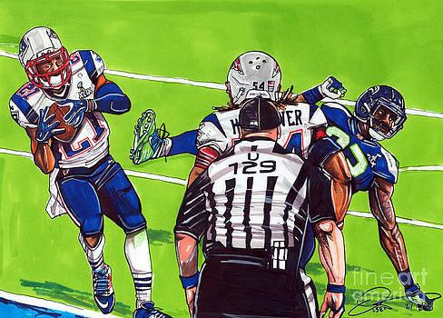 Malcolm Butler The Superbowl Interception by Dave Olsen