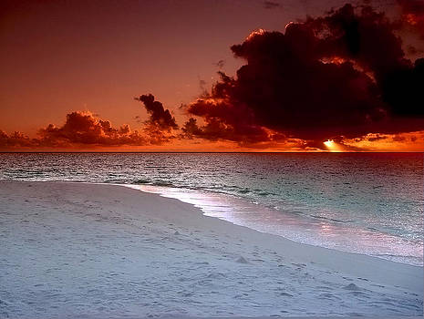 Maldives sunset by Giorgio Darrigo