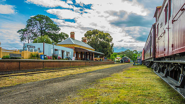 Maldon Station in Springtime by Steven Jodoin