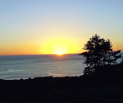 Malibu Sunset Silhouette by Kae Art