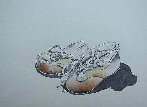 Mama's First Shoes-cira1930 by Ramona Kraemer-Dobson