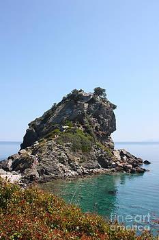 Mamma Mia Church Skopelos by Yvonne Ayoub