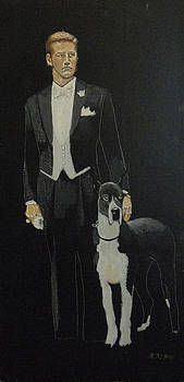 Richard Le Page - Man and his Dog