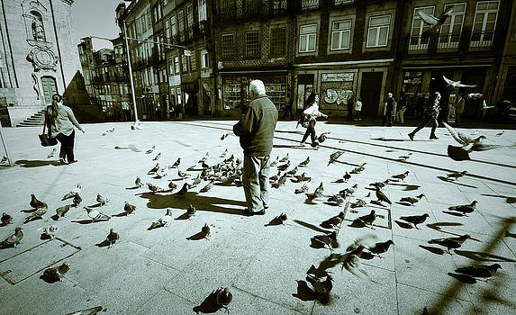 Man and his doves by Pedro Nunez