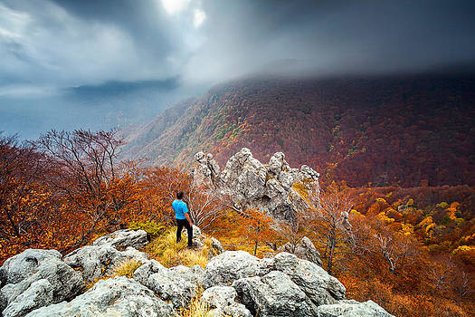 Man And the Mountain by Evgeni Dinev